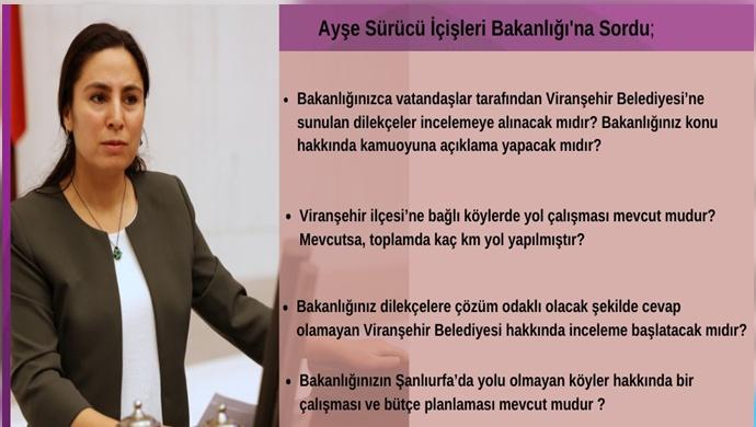 Viranşehir'in yolları meclise taşındı