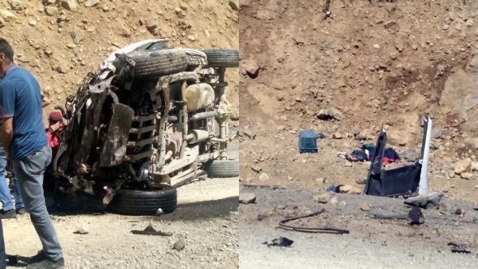 Yüksekova'da kaza: 6 ölü