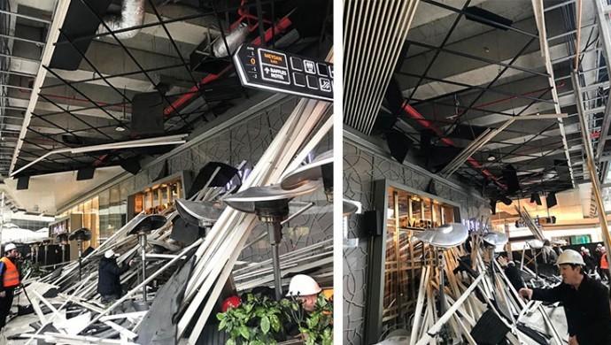 Zincirlikuyu AVM'de kafenin çatısı çöktü: 6 yaralı