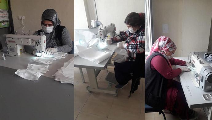 Kaymakam Keklik talimat verdi, maske üretimine başlandı